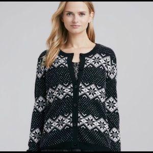 ALICE + OLIVIA   Beaded Snowflake Sweater Sz. L